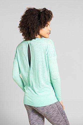 Zakti T-Shirt Femme Multisport Manches Longues Let It Be Menthe Verte