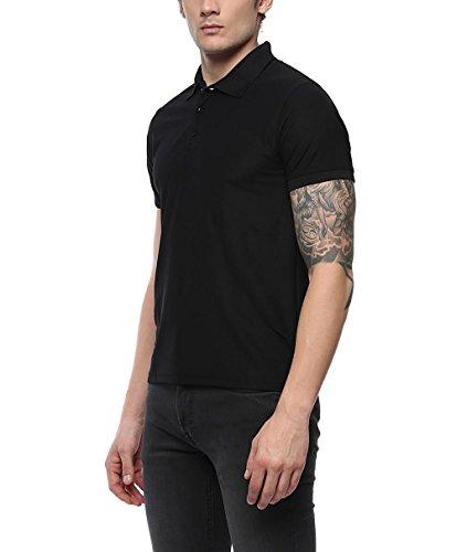 American Crew Men's Polo Collar Black T-Shirt - M (AC025P-M)