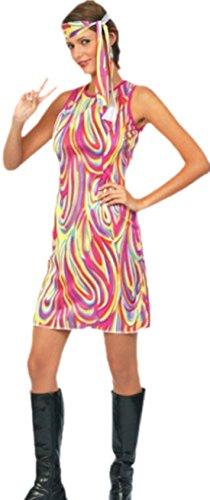 erdbeerclown - Unisex - Erwachsene Hippie Kleid, onesize, Rot