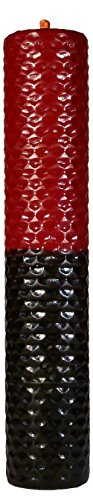 Candle Art Vela POMBA Gira Sexo Duradero. Color Rojo y Negro, Cera de Abeja con Plantas, ritualizada