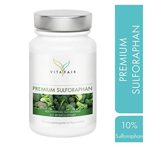 Sulforaphan - 45mg pro Tagesdosis - 100 Kapseln - Hochdosiert aus 450mg Brokkoli-Extrakt - Vegan - Ohne Magnesiumstearat - Made in Germany -