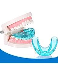KaLaiXing® ortodoncia retenedor. Entrenador de ortodoncia dental dientes aparato alineación Brace boquillas herramientas Producto (tamaño mediano), color azul
