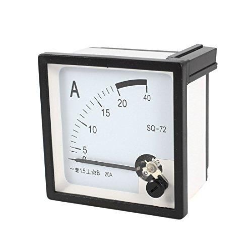 Quadratisch Panel Montage beweglichen Wetterfahne 0–20A AC Analog Amperemeter 72mm x 72mm