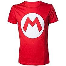 Nintendo Super Mario Bros Super Mario Bros. Big Mario Logo Men's T-Shirt, Red (ts313152ntn-xl) - Camiseta Hombre, Rojo (Red), X-Large