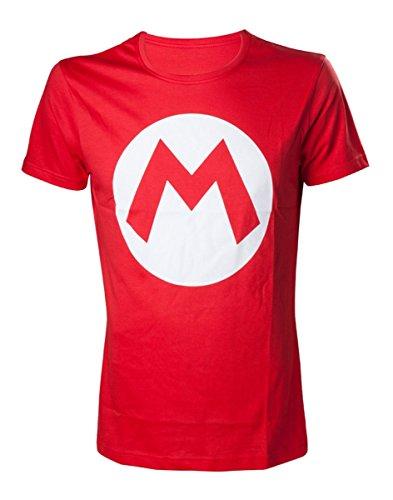 Nintendo Mario - 'M' Camiseta Rojo M