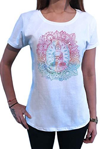 Camiseta de Mujer Buda Yoga Meditación Etnia Henna Estilo Print TS1570