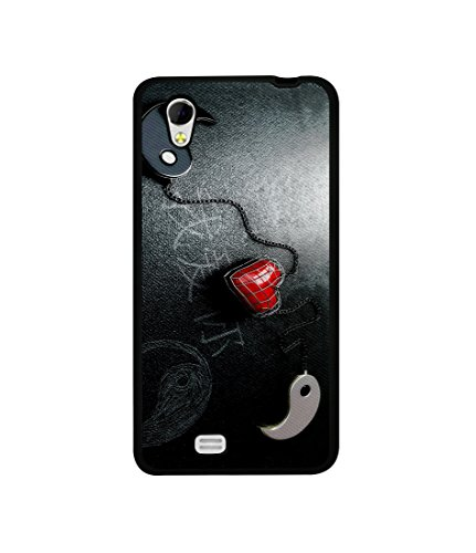 Casotec Chinnese Yin and Yang Design Canvas Printed Soft TPU Back Case Cover for Gionee Ctrl V4s  available at amazon for Rs.349