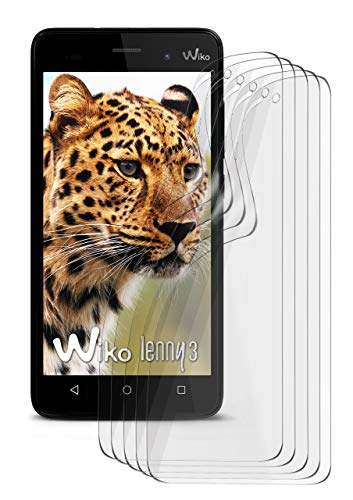 5X Wiko Lenny 3 | Schutzfolie Matt Bildschirm Schutz [Anti-Reflex] Screen Protector Fingerprint Handy-Folie Matte Bildschirmschutz-Folie für Wiko Lenny 3 Bildschirmfolie