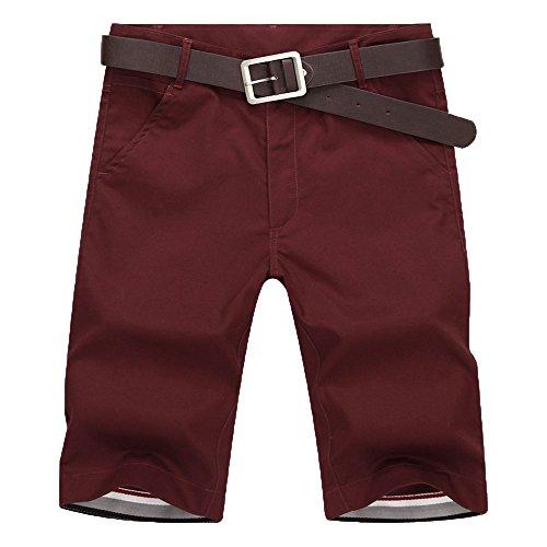 MOIKA Herren Freizeitshorts, Sommer Herren Jogg Everyday Shorts Sportshorts Knielang Kurze Hose Shorts Bermuda Shorts Kurzhose Sporthose Casual Shorts(M,Rot)