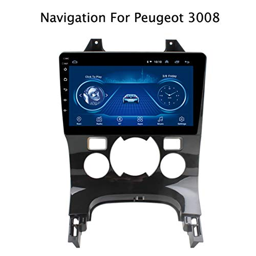 Android 8.1 1080P Touch Screen Multimedia Player GPS Navigationsgeräte Auto für Peugeot 3008 2013-2018 Canbus/Bluetooth/Freisprechfunktion/FM/AM/WiFi/AUX/USB/Lenkradsteuerung,Model1,WiFi:1+16G