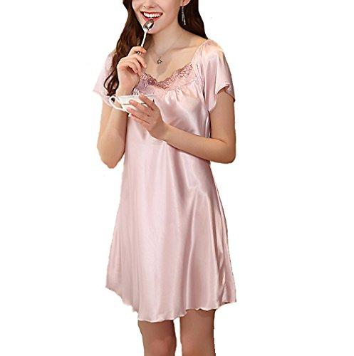 2018 Frauen Sexy Nachthemd Ärmel Tasche Und Kurzarm Falte Kleid Fashion Solid Herbst Frauen Nachthemd 100% Hochwertige Materialien Unterwäsche & Schlafanzug