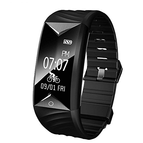 YAMAY Fitness Armband mit Pulsmesser,Fitness Tracker mit Herzfrequenz Wasserdicht IP67 Aktivitätstracker Pulsuhren Smartwatch Schrittzähler Uhr für Damen Herren Kompatibel mit für iPhone Android Handy