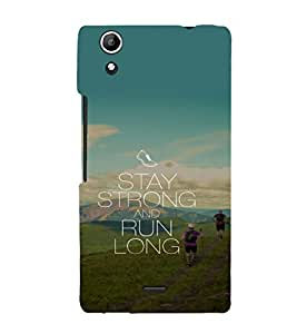 printtech Cool Quotes Life Back Case Cover for Micromax Canvas Selfie Lens Q345
