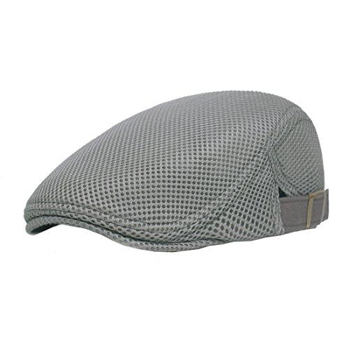 Boomly Casual Vintage Mesh Traspirante Adjustable Cappello da Golf Berretto da Uomo Newsboy cap Gatsby Flat cap