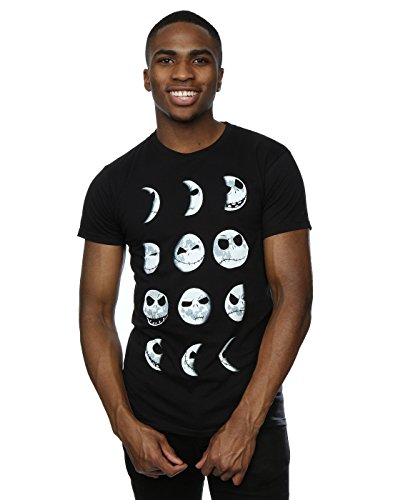 (Disney Herren Nightmare Before Christmas Jack Moon T-Shirt Large Schwarz)