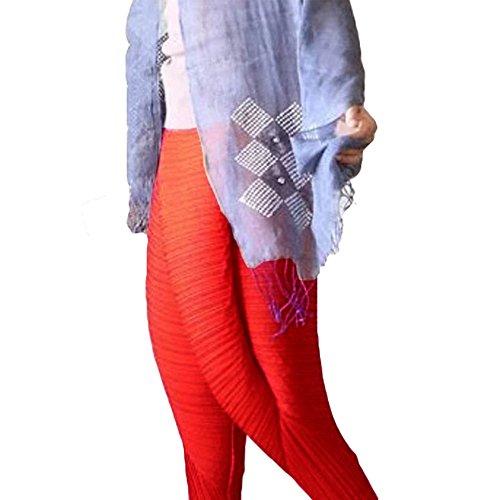 Femme fried chicken pants harlan pantalons taille haute jogging pantalons lâche drôle pantalon décontracté élastique monochrome pantalons de sport 3 couleurs S-5XL Juleya Rouge