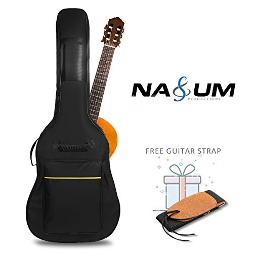 Gitarrentasche NASUM Gitarre Gigbag mit Gitarrengurt, Oxford Gitarrenzubehör, wasserdicht stoßfest gepolsterte für 41 Zoll Akustikgitarre Westerngitarre und Klassikgitarre Gitarre Tasche