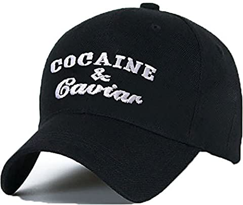 Baumwolle Baseball Cap Caps Cocaine Caviar Black White