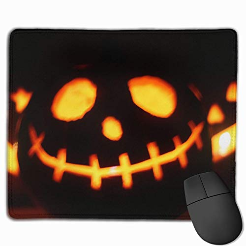 loween Pumpkin Light Background Rectangle Non-Slip 9.8in11.8 in Unique Designs Gaming Rubber Mousepad Stitched Edges Mouse Mat ()