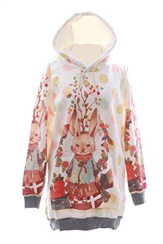 T-530 Hase Rabbit Cute Sweet Pastel Goth Lolita Pullover Sweatshirt Harajuku Japan Fashion Kawaii-Story