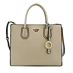 Cathy London Womens Handbag, Material- Syntethic Leather, Colour- Beige