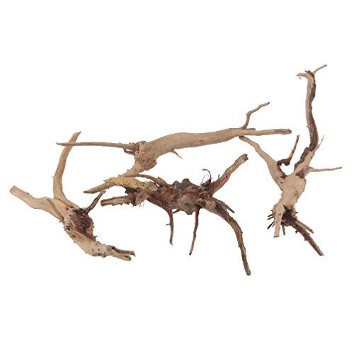 emours natürliches Treibholz Vine Zweige Reptilien Aquarium Dekoration Verschiedene Größen, klein, 4Stück