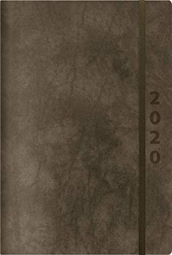 ReLeather Daily anthrazit 2020: Terminplaner groß. DIN A5 Termin-kalender mit Vintage-leder und Tageskalendarium. (Leder-tag -)