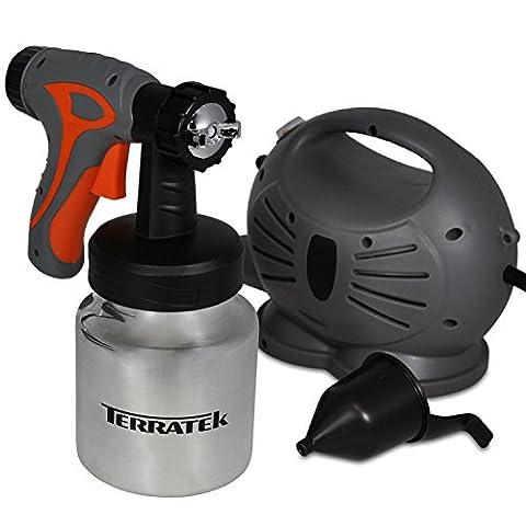 Terratek 650W Electric Paint Sprayer Spray Gun System, Ideal for Gloss, Satin, Varnish, Fence Paint &