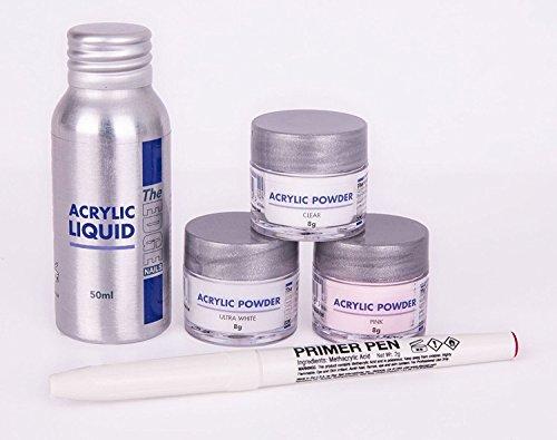 The Edge Acryl Puder Plus Liquid Trial Pack (Komplettes Set Acryl-nagel-kit)
