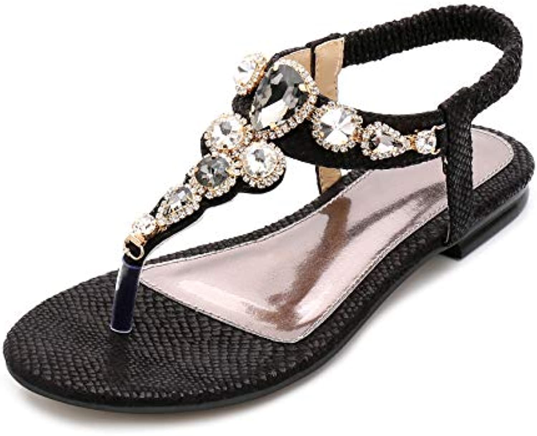 327ad12b74bb7e fortuning est jds & reg; Madame Madame Madame fashion design été classique  de strass, chaussures plates bohème tong sandales b07gn8nt23 parent ...