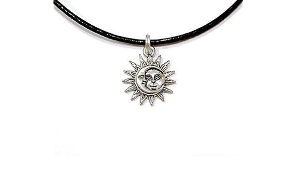c7caf782dc8dc Sun Moon Face Choker, Sun Moon Choker, Charm Choker, Choker Necklace ...