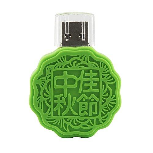 usbkingdom 32GB USB 2.0Flash Drive Mond Kuchen Form Memory Stick Pendrive Flashdrive Geschenk für mid-autumn Tag grün