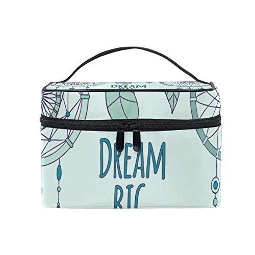 Bolsa de maquillaje portátil atrapasueños personalizada para mujeres y niñas, bolsa de maquillaje de gran capacidad, organizador de almacenamiento de viaje por SUNOP