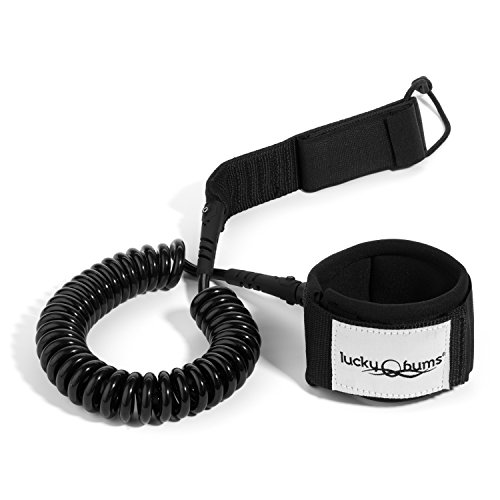 lucky-bums-heavy-duty-sup-stand-up-paddleboard-surfing-no-drag-coiled-ankle-leash-neoprene-black-by-