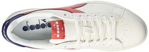 Diadora Game P, Sneakers Basses Homme Blanc Cassé (Bco Rosso Carmineblu Estate)