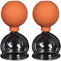 60 mm Suction Bottles with a Rubber Ball for Fireless Cupping Set of 2