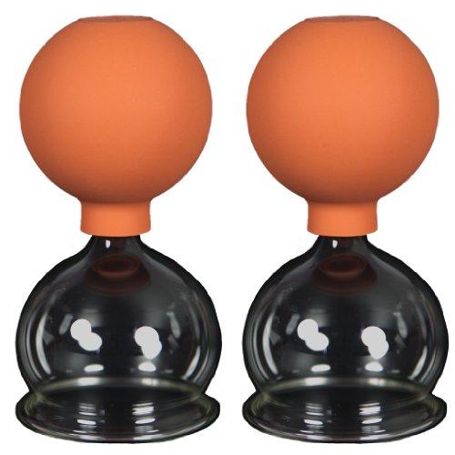 Schröpfgläser mit Ball 2 Stück 60mm zum professionellen, medizinschen, feuerlosen Schröpfen, Schröpfglas, Schröpfgläser, Lauschaer Glas das Original
