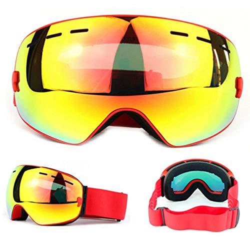 WFFH Skibrille-Spektakel Ski/Snowboard Brille Für Männer, Frauen Und Jugendliche-100% UV-Schutz,Red