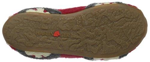 Haflinger Jungen Street Hohe Hausschuhe Rot (Ziegelrot 85)