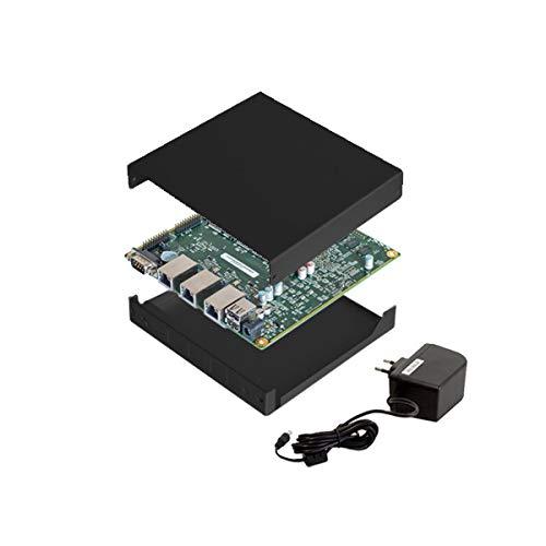 NRG Systems APU2D4 Bundle (Board, Netzteil, schwarzes Gehäuse, 16GB mSATA SSD) -