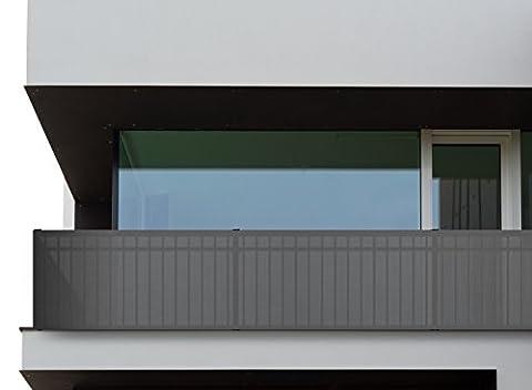 Oramics Pare-vue balcon pour balcon 500x 90cm 500x90cm gris