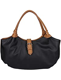 Osaiz Black Colored PU Leather Shoulder And Hand Bag For Women , Girls And Ladies For Every Style & Occasion .