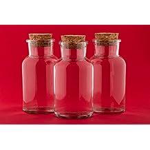 recipientes de vidrio frasco de vidrio con tapabocas viales con tapas de corcho de abalorios recipiente depsito del de cristal vaco