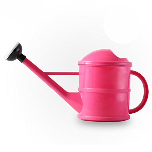 Wddwarmhome Petit pot de arrosage de jardinage de 1.5L arrosant le pot tenu dans la main de bouteilles de pot ( Couleur : Rose )