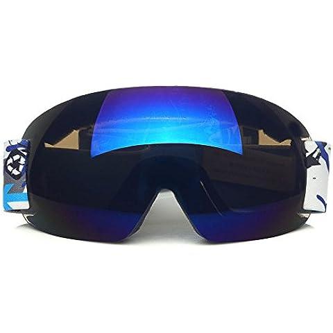 CHT Doppio Antinebbia Sci Grande Specchio Visione 170 Millimetri Colore Opzionale,Blue