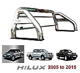 Arange Barre de roulement d'accessoires de Sport d'acier Inoxydable de Hilux Hi 2005-2015 76mm M216