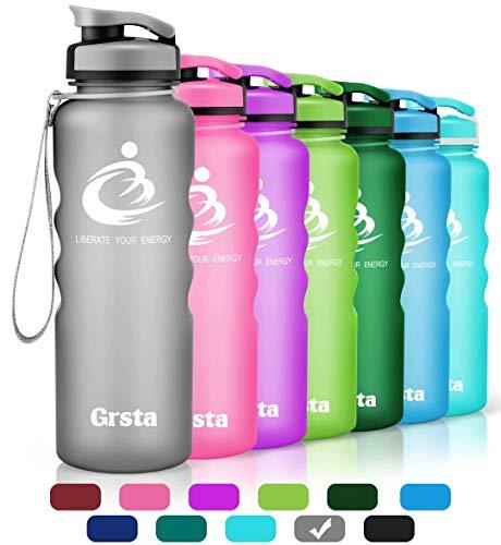 QuiFit Botella de Agua de 1 Gal/ón BPA Gratis Botella de Agua Potable Reutilizable de pl/ástico con Tapa de Acero Inoxidable
