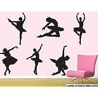Ballerina Ballerini–Confezione Grande–6x 55cm–Adesivi da Parete in Vinile, colore: