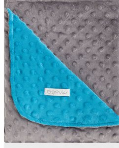pirulos 64105107–Decke doppelseitig, 110x 140, Design Dots, Farbe türkis