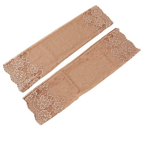 Faliya Lace Arm Cover Schutzhüllen Elegante Sonnencreme Manschette Hülle für Outdoor-Reisen Fahren, Farbe
